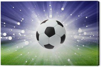 Tableau sur Toile Ballon de football, le stade, la lumière