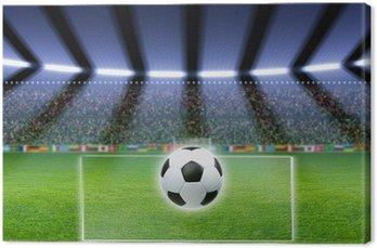 Tableau sur Toile Ballon de football, le stade, les projecteurs