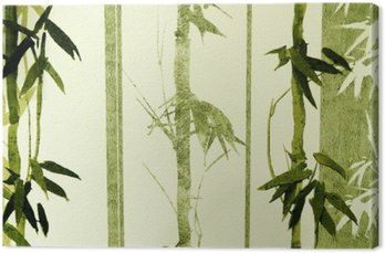 Tableau sur Toile Bamboo texture