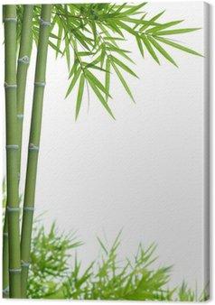 Tableau sur Toile Bambou avec des feuilles