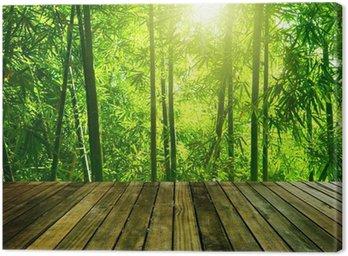 Tableau sur Toile Bambou foret