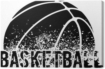 Tableau sur Toile Basketball Grunge