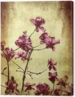 Tableau sur Toile Beau fond grunge avec magnolia