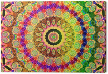 Tableau sur Toile Beau mandala coloré