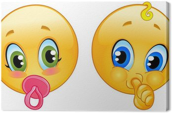 Tableau sur Toile Bébé émoticônes