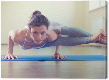 Tableau sur Toile Belle jeune femme yoga entraînement