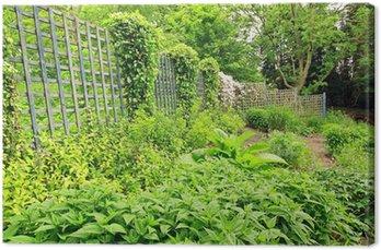 Tableau sur Toile Belle vieux jardin avec clôture en bois • Pixers ...