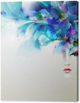 Tableau sur Toile Belles femmes abstrait avec des éléments de conception