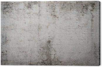 Tableau sur Toile Blanc gris vieille rue de ciment cru rouillé grunge vieilli rugueux