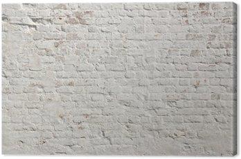 Tableau sur Toile Blanc grunge fond mur de briques