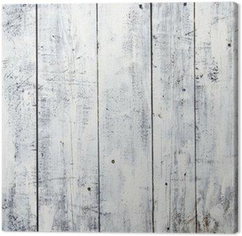 Tableau sur Toile Blanc sale planches fond