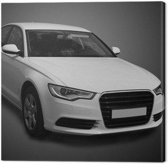Tableau sur Toile Blanc voiture de luxe