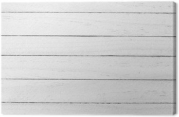 Tableau sur Toile Blanc Wood Background