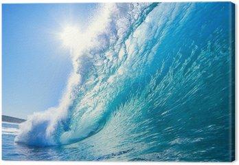 Tableau sur Toile Bleu Ocean Wave