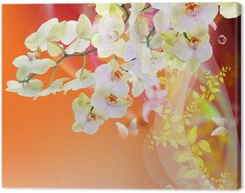 Tableau sur Toile Bloom Spring belle japonaise exotique Carte Flowers.Floral