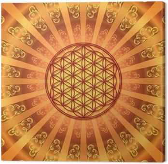 Tableau sur Toile Blume des Lebens - Strahlen - Himmel