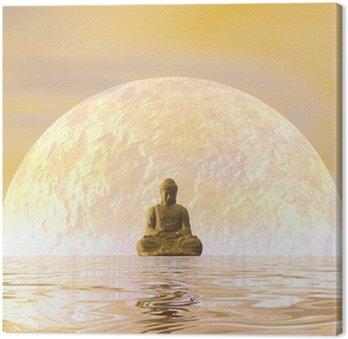 Tableau sur Toile Bouddha Méditation - 3D render