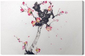 Tableau sur Toile Branche de cerisiers en fleur