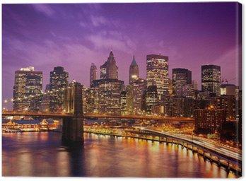 Tableau sur Toile Brooklyn Bridge surplombant Manhattan