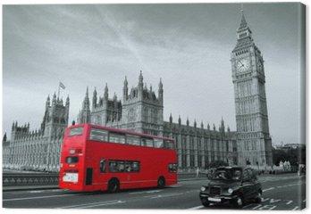 Tableau sur Toile Bus à Londres