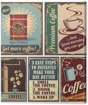 Tableau sur Toile Café posters vintage et enseignes métalliques