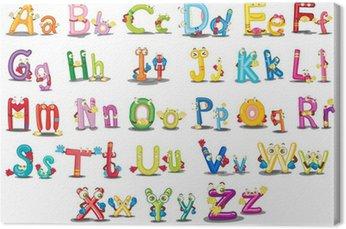 Tableau sur Toile Caractères alphabétiques