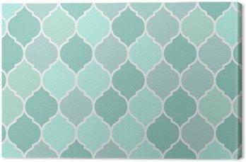 Tableau sur Toile Carreaux motif turquoise sans soudure, vecteur