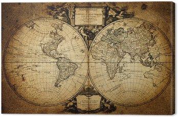Tableau sur Toile Carte du monde 1752