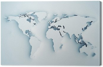 Tableau sur Toile Carte du monde en 3D