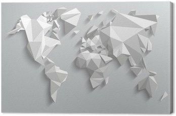 Tableau sur Toile Carte triangle monde de l'illustration