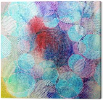 Tableau sur Toile Cercles de couleur art illustration