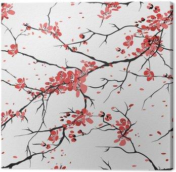 Tableau sur Toile Cerisier ou sakura seamless