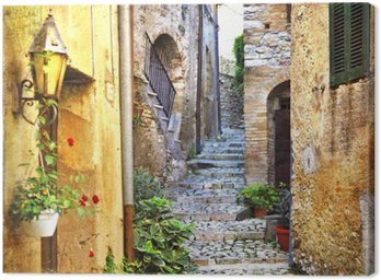 Tableau sur Toile Charmantes vieilles rues de la Méditerranée