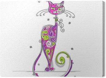 Tableau sur Toile Chat d'art pour votre conception