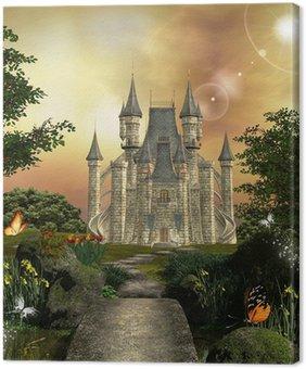Tableau sur Toile Château dans un jardin enchanté
