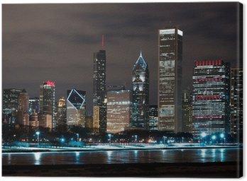 Tableau sur Toile Chicago Skyline Nuit