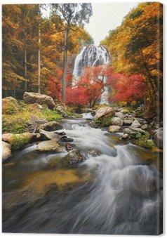 Tableau sur Toile Chute d'eau à l'automne