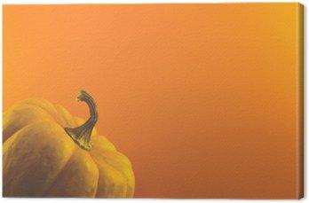 Tableau sur Toile Citrouille sur fond orange
