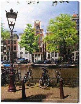 Tableau sur Toile Classic Amsterdam canal scène