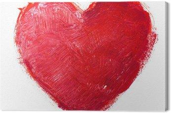 Tableau sur Toile Coeur d'aquarelle. Concept - l'amour, les relations, l'art, la peinture