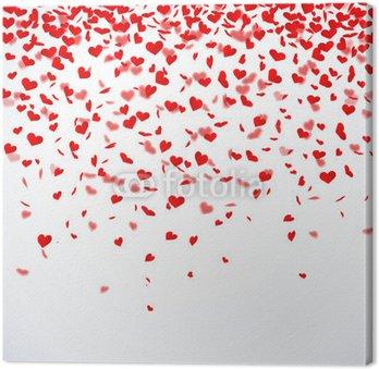 Tableau sur Toile Coeur de confettis
