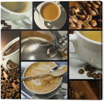 Tableau sur Toile Collage sur le thème du café, l'heure du café, se détendre