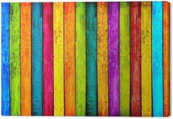 Tableau sur Toile Colorful bois planches de fond