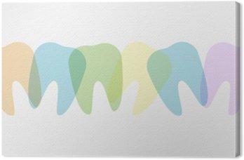 Tableau sur Toile Colorful dents illustration