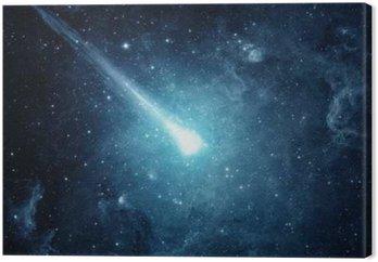 Tableau sur Toile Comet dans le ciel étoilé. Les éléments de cette image fournie par la NASA.
