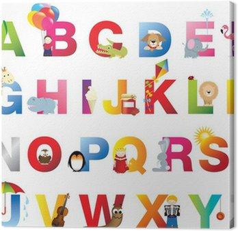 Tableau sur Toile Complete alphabet pour enfants