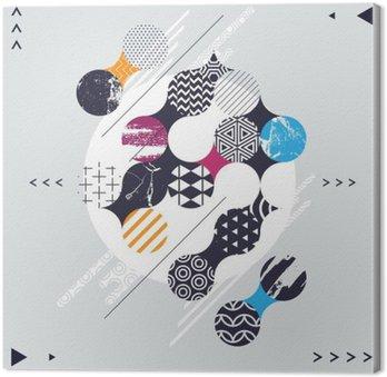 Tableau sur Toile Composition abstraite géométrique avec des cercles décoratifs