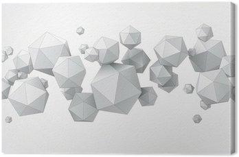 Tableau sur Toile Composition de l'icosaèdre pour la conception graphique