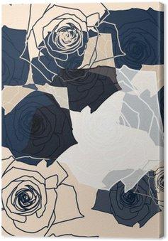 Tableau sur Toile Configuration de fleur sans soudure, EPS 10