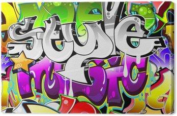 Tableau sur Toile Contexte Graffiti Art urbain. Conception sans couture